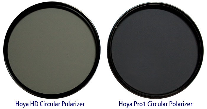 Side-by-Side, Hoya's HD Circular Polarizer and Pro1 Circular Polarizer