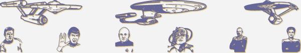 Fun Star Trek dingbats: Prime Directive font
