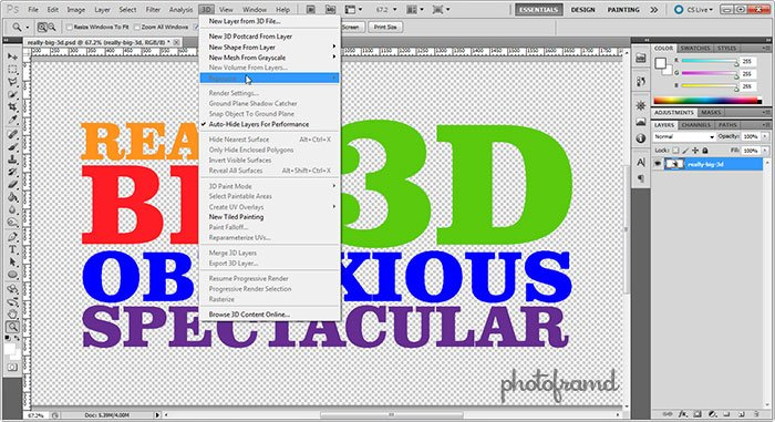 Photoshop CS5 – Repousse is not as easy as you may think