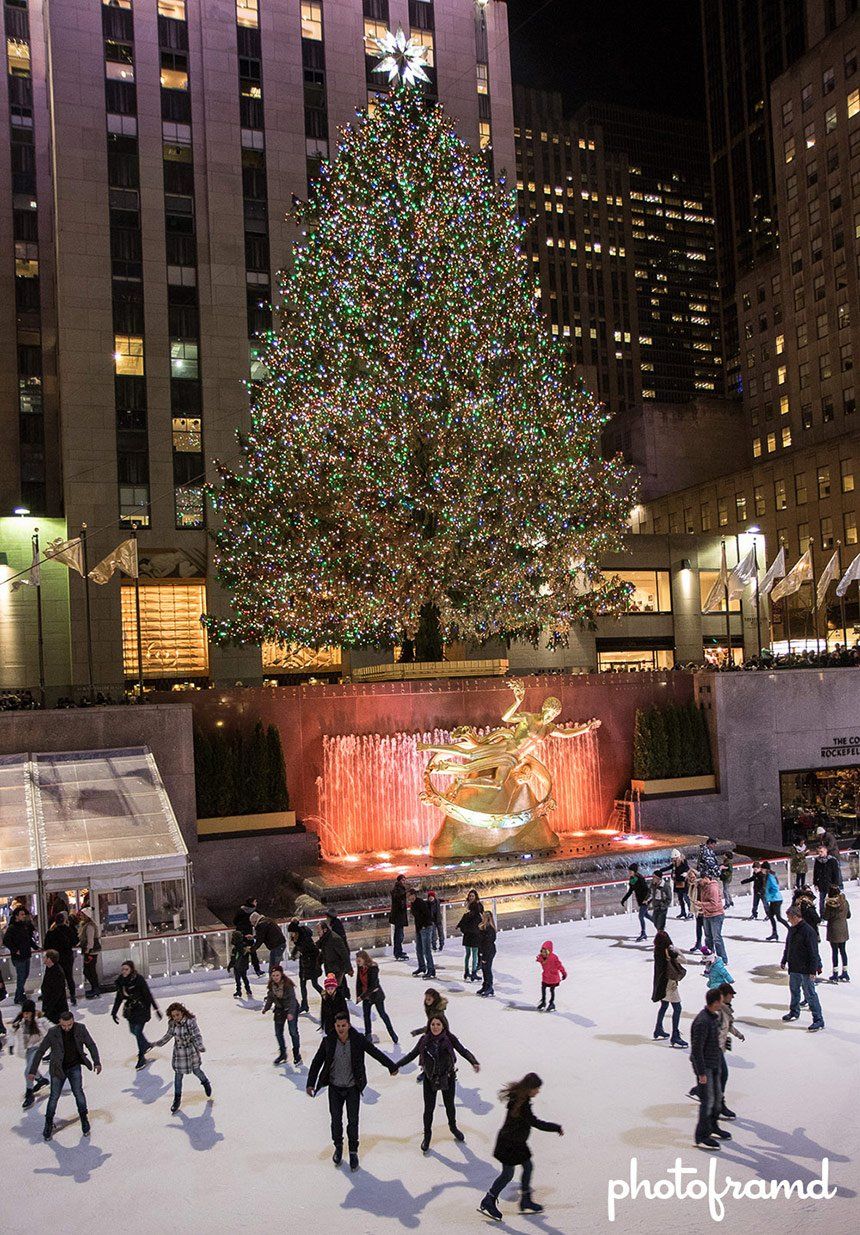 The Christmas Tree In Rockefeller Center