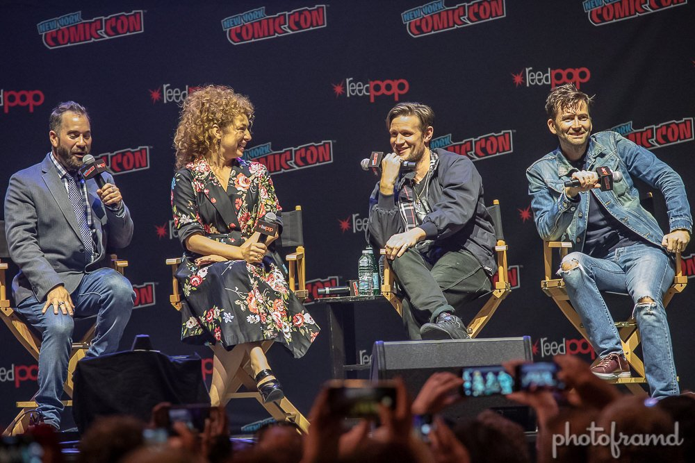 New York Comic Con 2020 Panels Photos – Doctor Who Panel at New York Comic Con 2018 – David